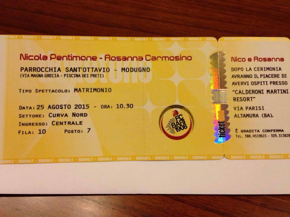 Matrimonio Tema Nord E Sud : Rosanna e nicola tifosi del bari gli inviti