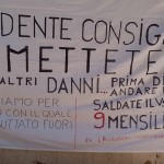 protesta isolaverde striscione