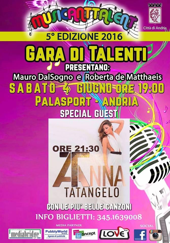 4 giugno concerto Anna Tatangelo