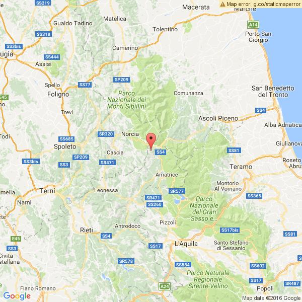 Terremoto oggi, nuova scossa nel Centro Italia di magnitudo 4.1