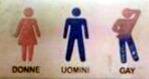 Cartello Per Bagno Signore : Cavallino cartello del bagno del b&b: è per donne uomini e gay