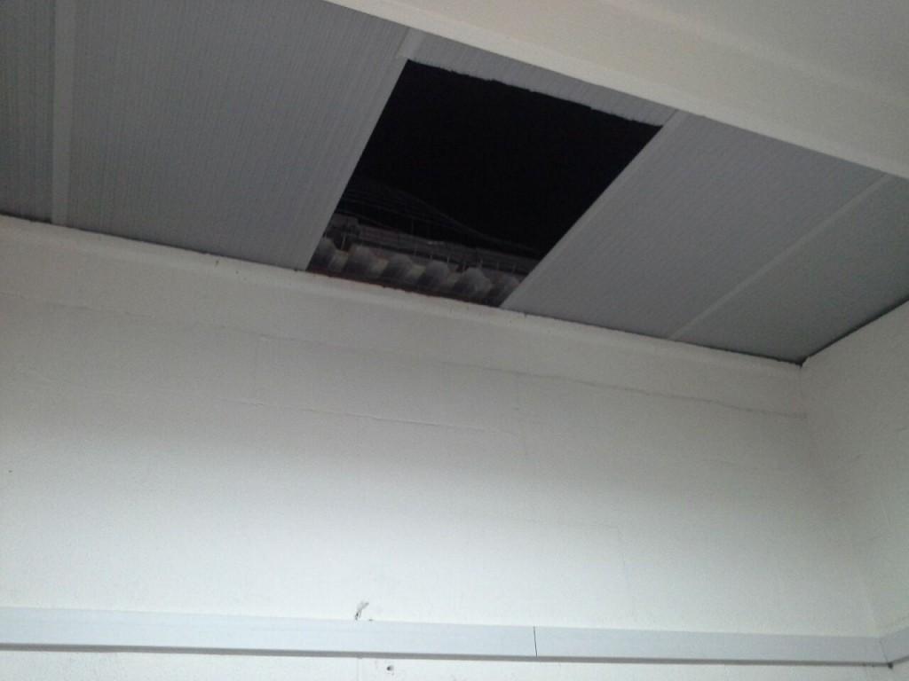 buco tetto baricentro