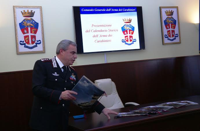 presentazione calendario carabinieri