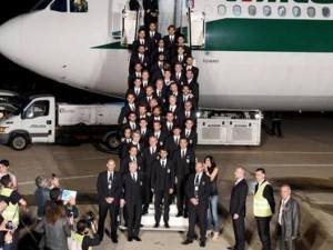 foto nazionale partenza brasile
