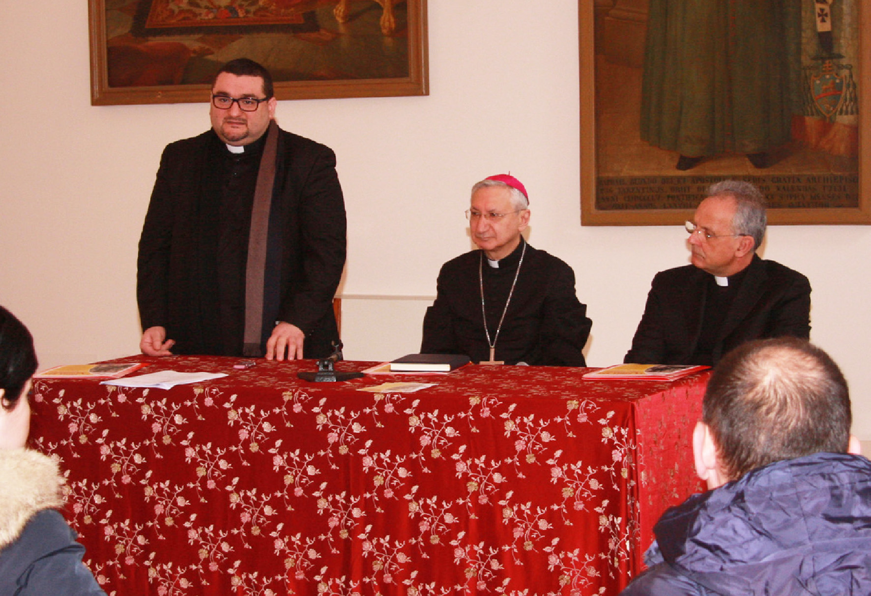 Don Emanuele Ferro larcivescovo Mons. Filippo Santoro e don Gino Romanazzi