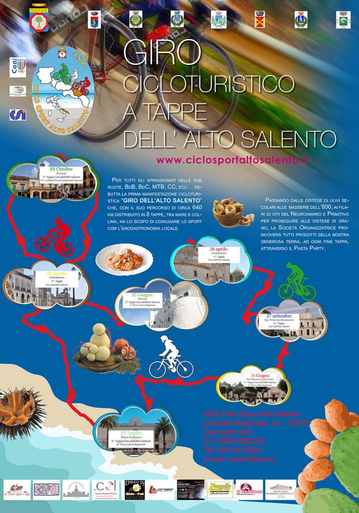 Locandina Giro Cicloturistico Alto Salento