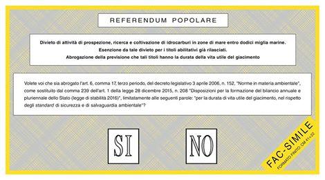scheda referendum 17 aprile 2016
