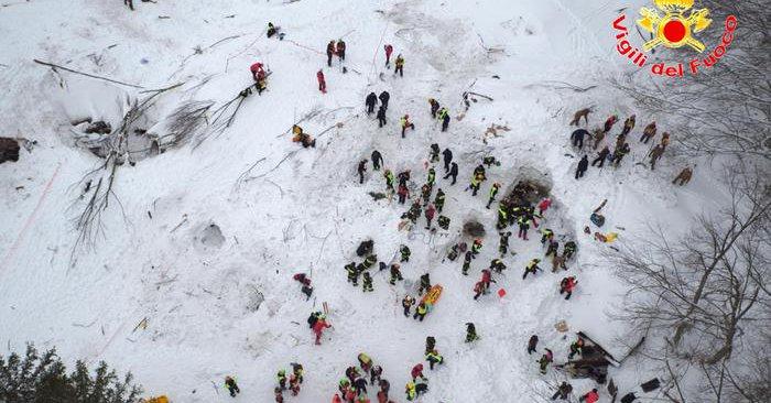 soccorritori rigopiano