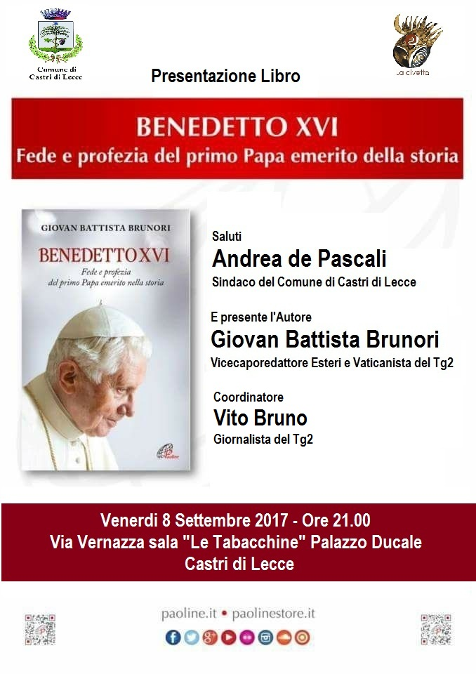 Presentazione libro BENEDETTO XVI