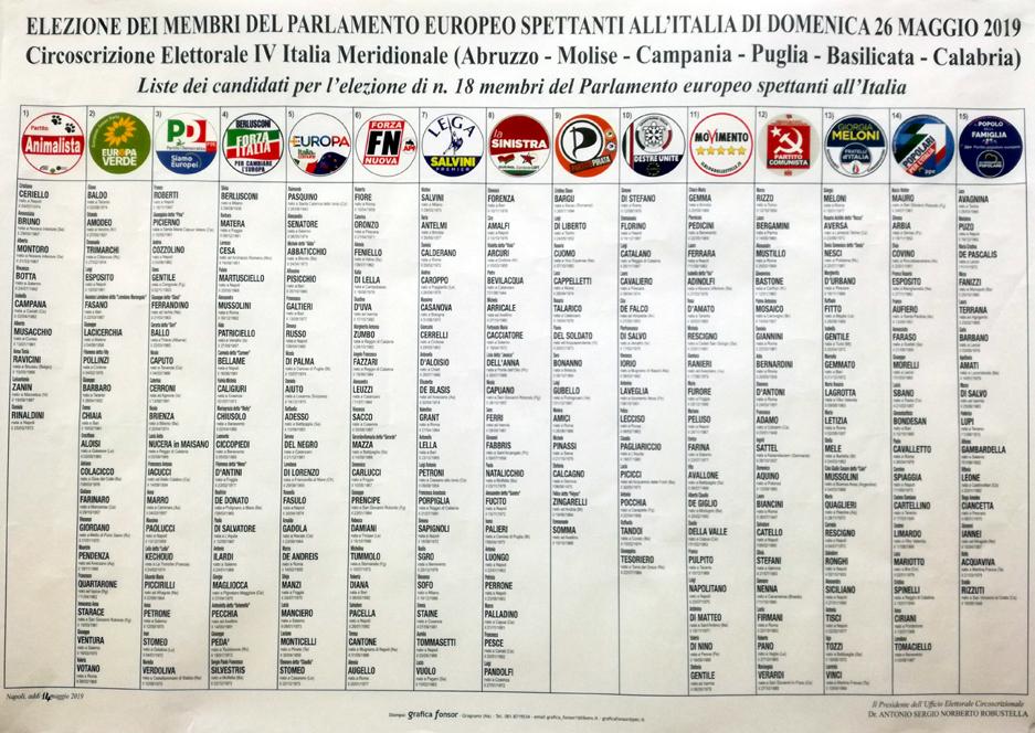 candidati elezioni europee 2019 1