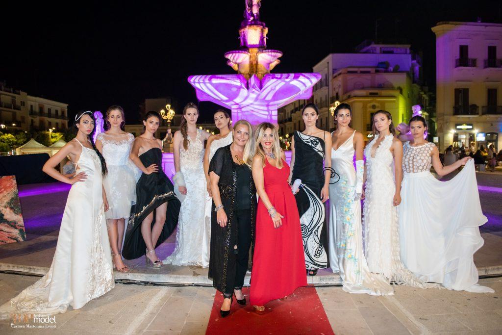 Carmen Martorana Daniela Mazzcane e le modelle di Michele Gaudiomonte