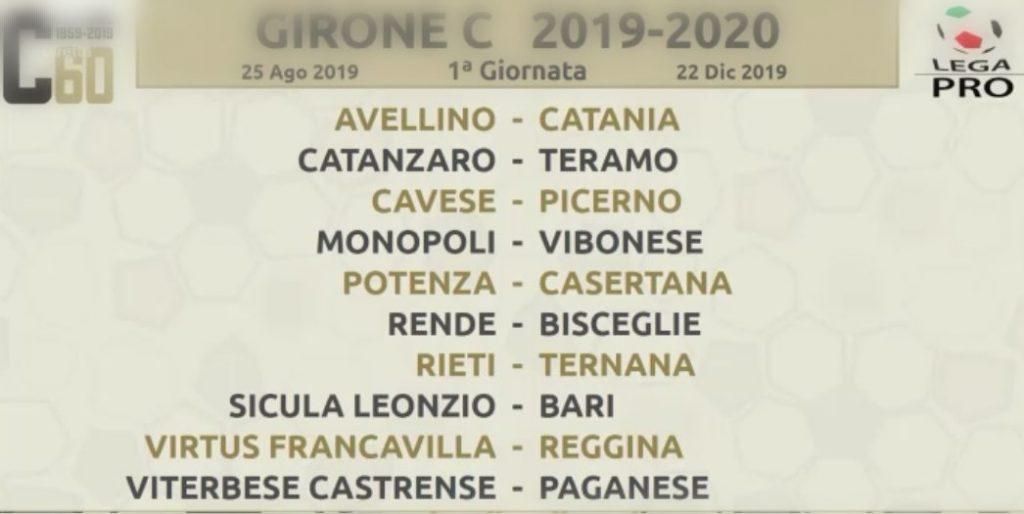 Calendario Lega Pro Girone C.Serie C Calendario Del Campionato Nel Girone C Le Pugliesi