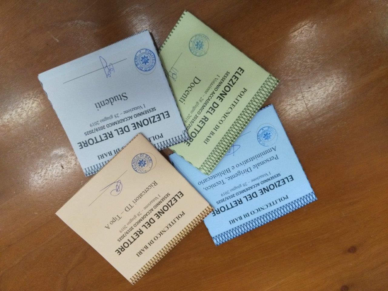 schede elettorali poliba