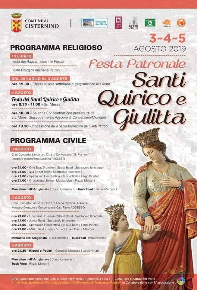 Calendario Feste Patronali Puglia.Cisternino Festa Patronale Noi Notizie