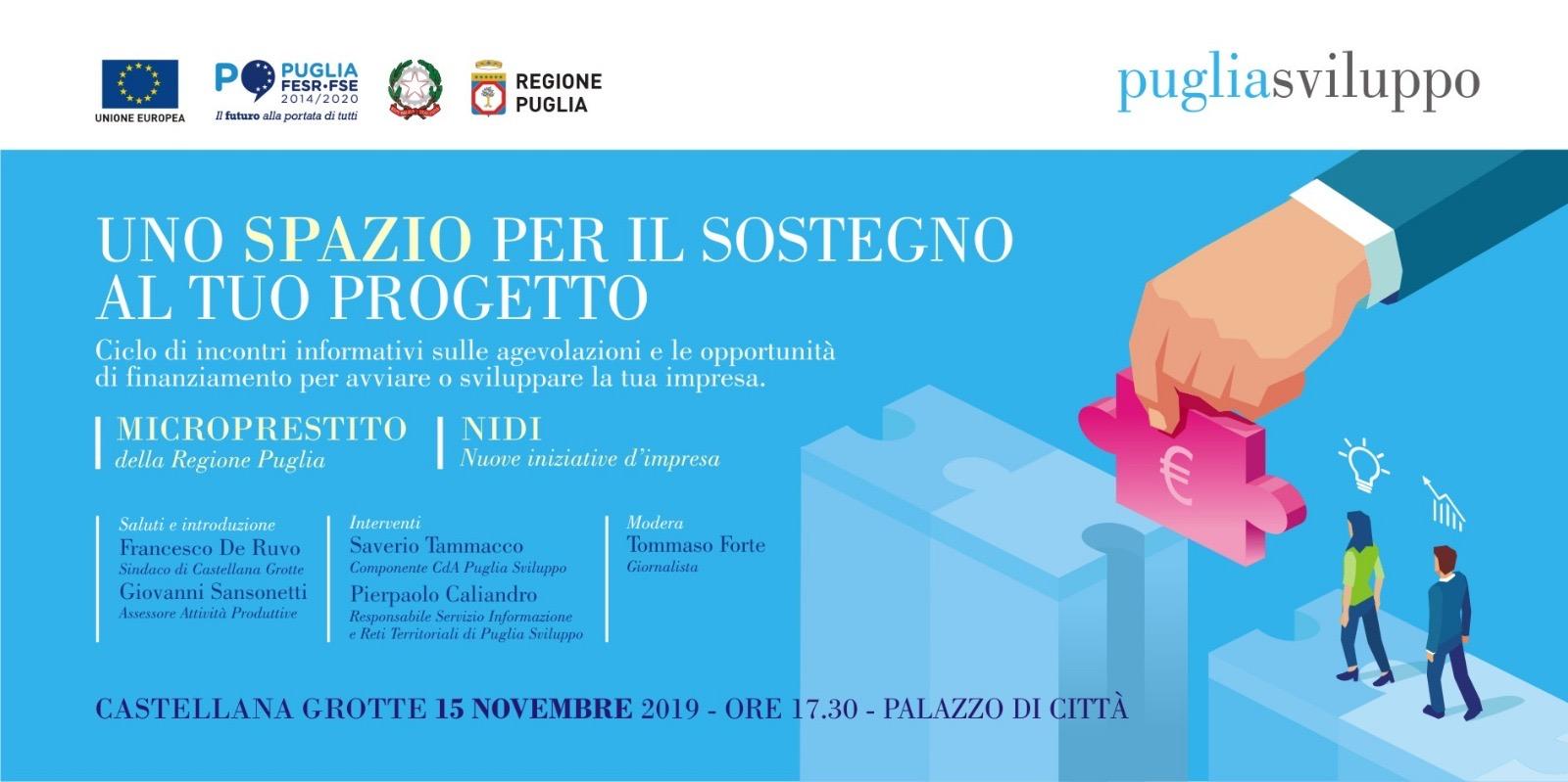 Castellana Grotte: opportunità per le giovani imprese, convegno - Noi Notizie. - Noi Notizie