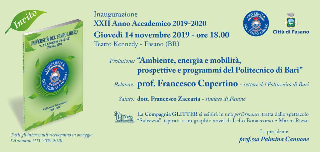 invito inaugurazione UTL 2019 2020