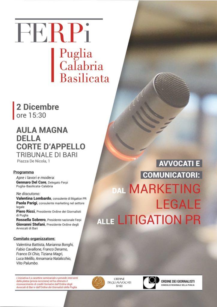 Loc. FERPI. Avvocati e Comunicatori Tribunale di Bari 2 dicembre 2019