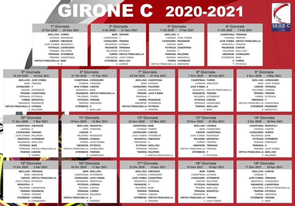 Serie C girone C: calendario del campionato   Noi Notizie.