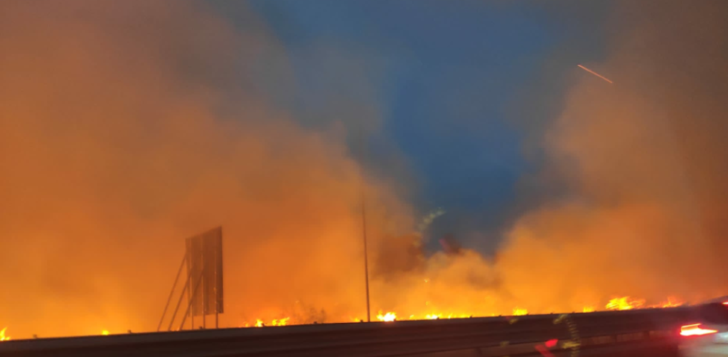 Vasto incendio in azienda agricola di Martina Franca E a Taranto un rogo di grandi dimensioni in una zona a ridosso del ponte Punta Penna