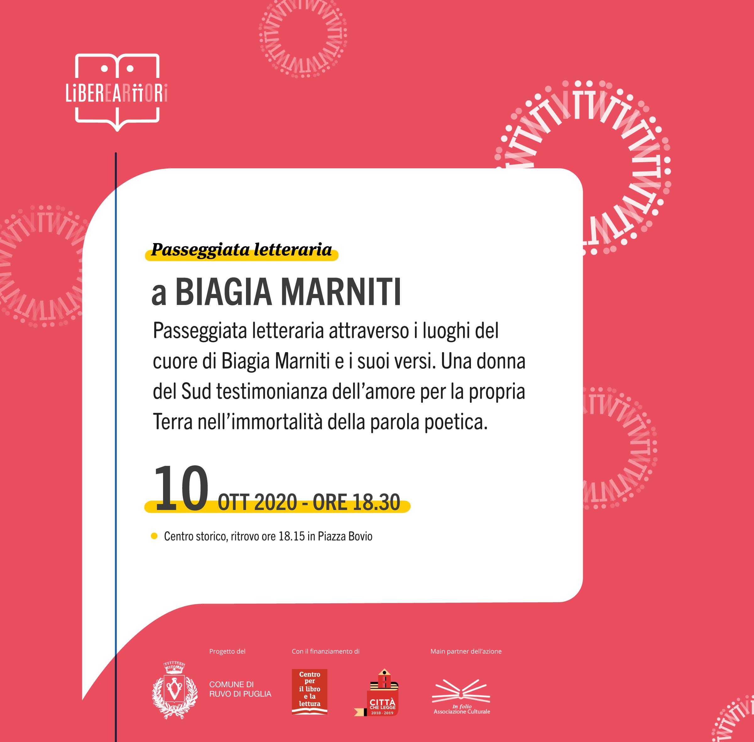 Ruvo Di Puglia Passeggiata Letteraria Nel Ricordo Di Biagia Marniti Noi Notizie