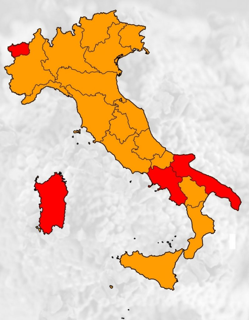 Puglia zona rossa, otto italiani su dieci in area arancione da oggi - Noi  Notizie.