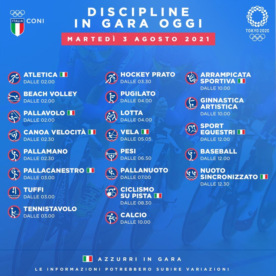 Olimpiadi: oggi per l'Italia medaglia dalla vela con Tita Banti, speranze nell'atletica leggera Tokyo 2020